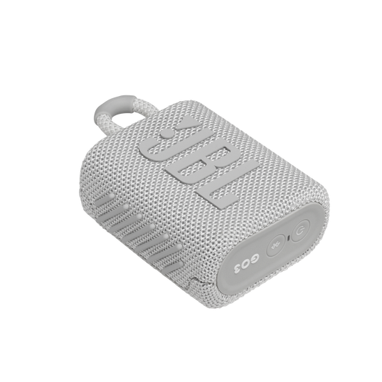 JBL GO 3 - White - Portable Waterproof Speaker - Detailshot 3