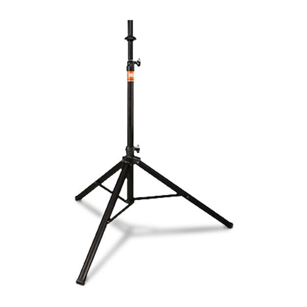 JBL Tripod Stand (Manual Assist) - Black - Aluminum Tripod Speaker Stand with Secure Locking Pin and 150 lbs Load Capacity - Hero