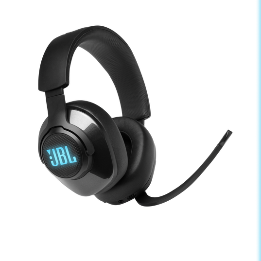 JBL Quantum 400 - Black - USB over-ear gaming headset with game-chat dial - Detailshot 1