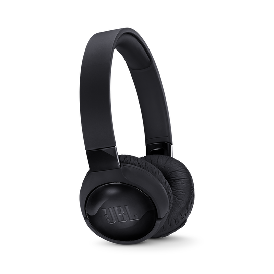 JBL TUNE 600BTNC - Black - Wireless, on-ear, active noise-cancelling headphones. - Hero