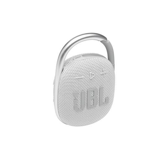 JBL CLIP 4 - White - Ultra-portable Waterproof Speaker - Hero