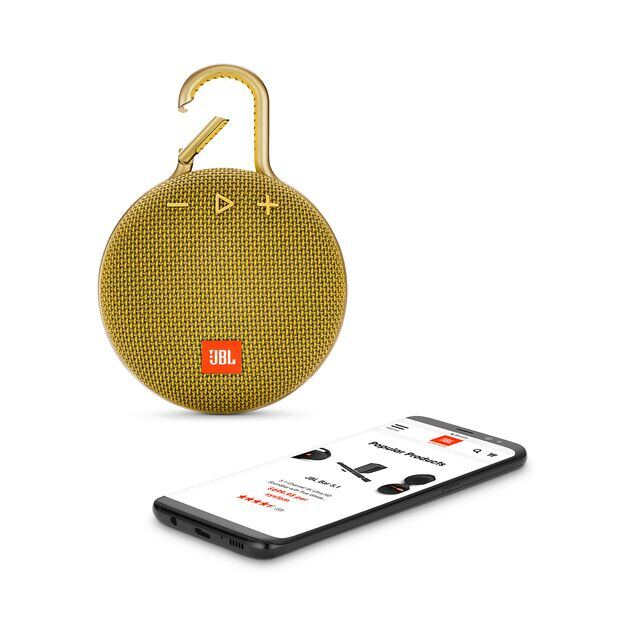JBL CLIP 3 - Mustard Yellow - Portable Bluetooth® speaker - Detailshot 1