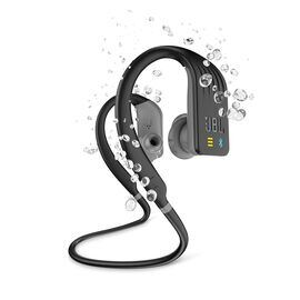 JBL Endurance DIVE - Black - Waterproof Wireless In-Ear Sport Headphones with MP3 Player - Hero
