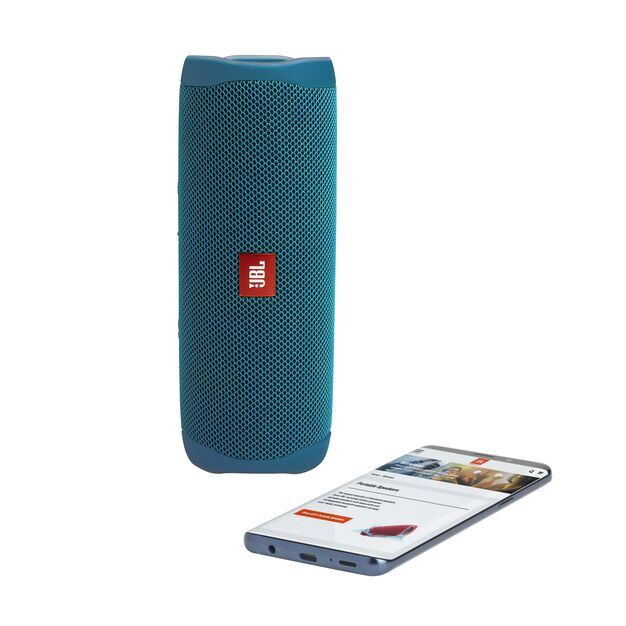 JBL Flip 5 Eco edition - Ocean Blue - Portable Speaker - Eco edition - Detailshot 1