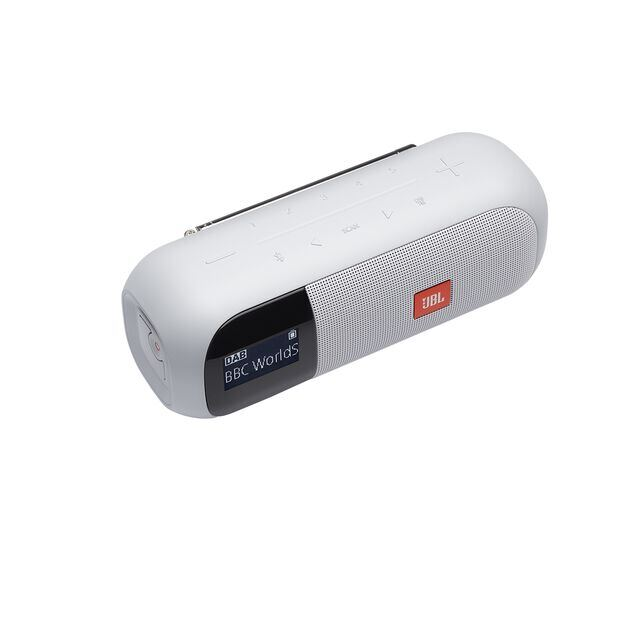 JBL Tuner 2 - White - Portable DAB/DAB+/FM radio with Bluetooth - Detailshot 1