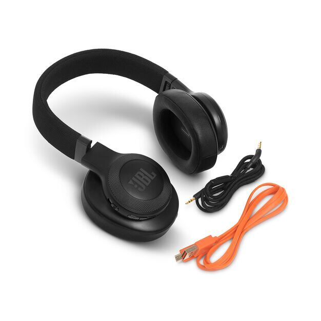 JBL E55BT - Black - Wireless over-ear headphones - Detailshot 5